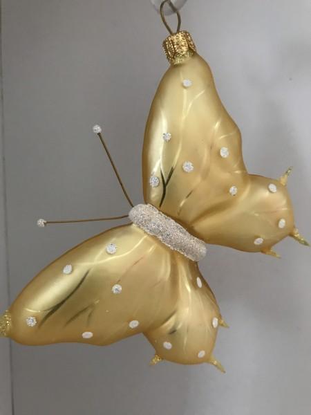 Schmetterling gelb, weisse Tupfen
