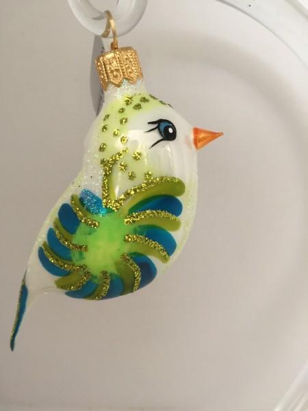 Vögelchen weiss blau