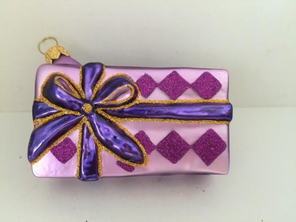 Geschenkpäckli lila mit violettem Band