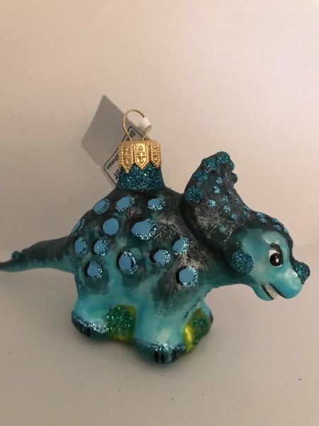 Kleiner Ceratops-Saurier, blau