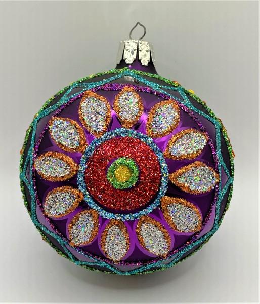 Kugel mit Blumen-Muster, violett