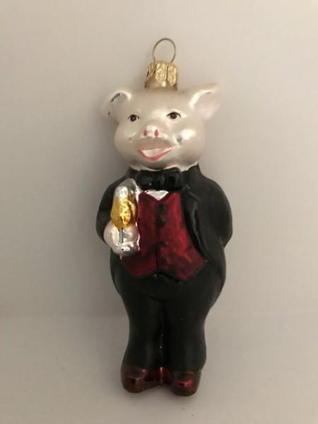 Schweinchenmann im Festanzug