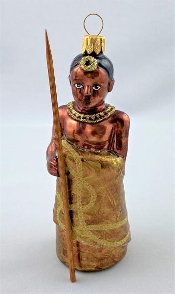 Afrikanischer Junge mit Speer