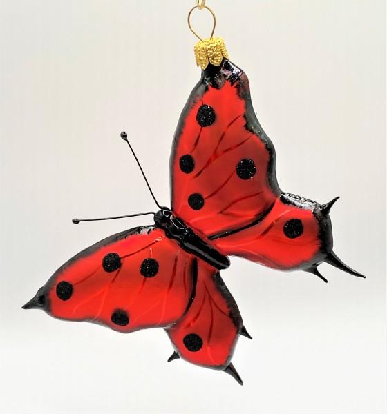 Schmetterling rot, schwarze Tupfen