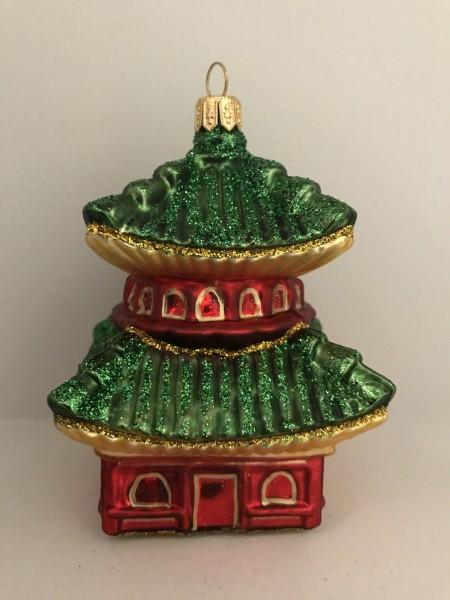 Pagode mit grünem Dach