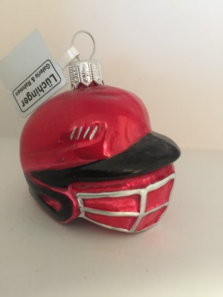 Baseball Catcher Helm, rot