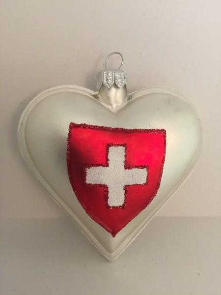 Herz mit Schweizer Kreuz