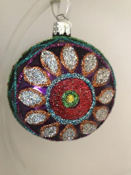 Kugel mit Blumen-Muster, violet