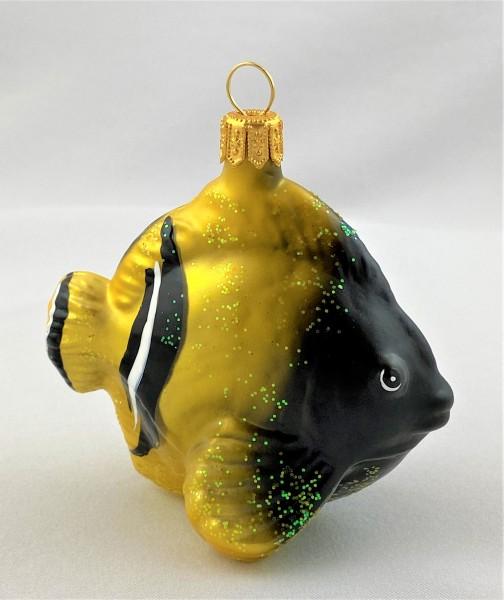 Kleiner Riff-Fisch gelb schwarz