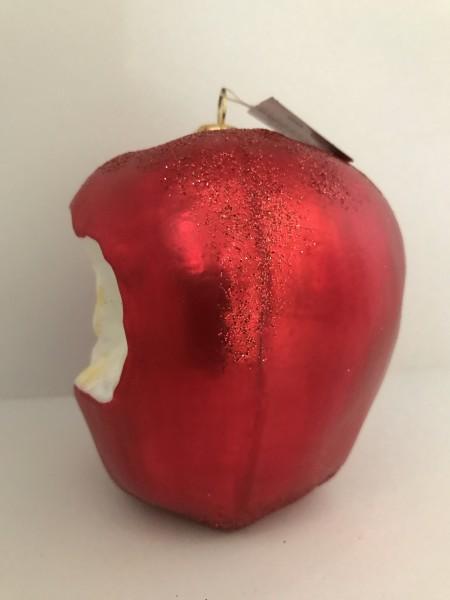 Angebissener roter Apfel