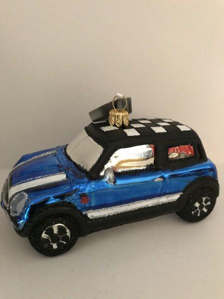 Blauer Racing Mini-Cooper