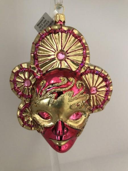 Venezianische Maske pink gold