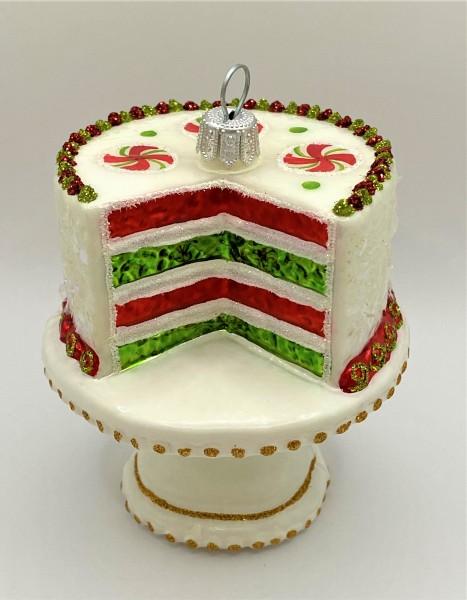 Candy Cane Torte auf Tortenschale