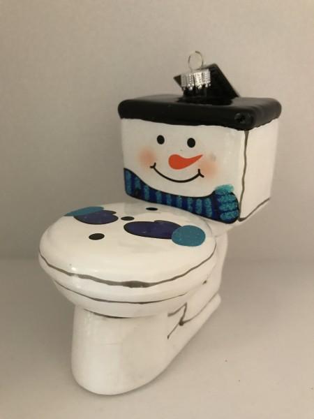 Fröhliche Toilette