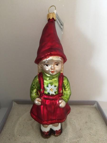 Zwergenmädchen mit roter Mütze
