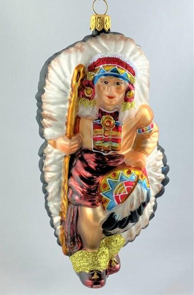 Indianer Häuptling mit Federschmuck