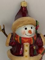 Schneemann-Mädchen mit Herzchenschal