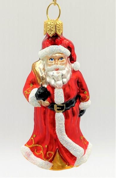 Kleiner Weihnachtsmann mit Geschenksack