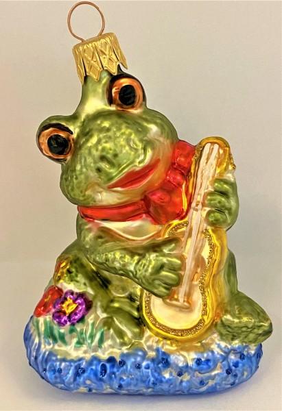 Fröhlicher Frosch spielt Gitarre