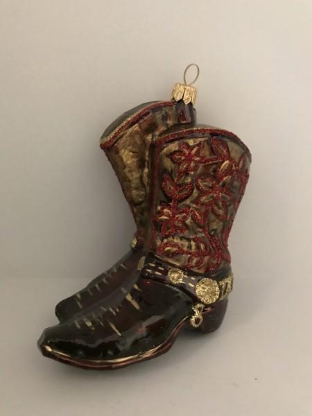 Cowboy Stiefel Blumendekor