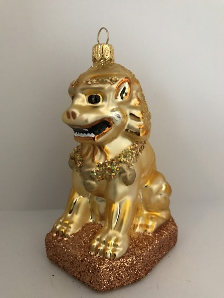 Goldener chinesischer Tempellöwe