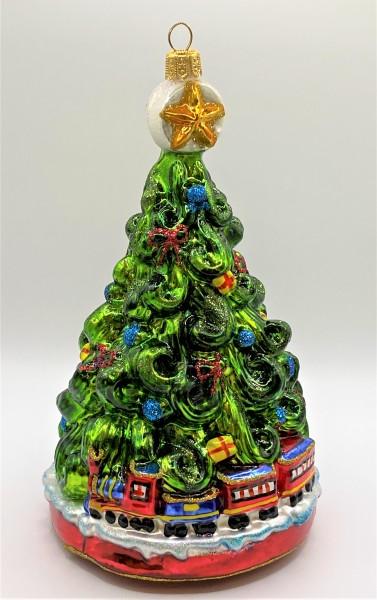 Christbaum mit Weihnachts-Zug