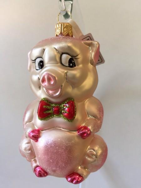 Schweinchen mit rosa Schleife