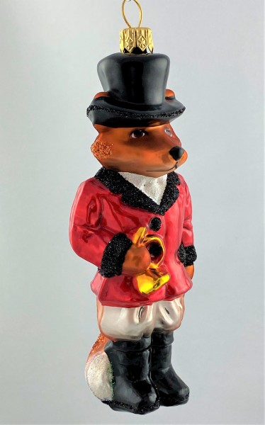 Fuchs im roten Jagdkostüm