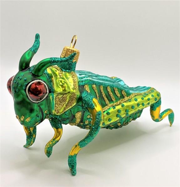 Heuschrecke, grün, türkis