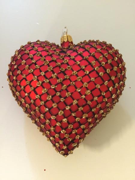 Herz Rot matt, Netzmuster