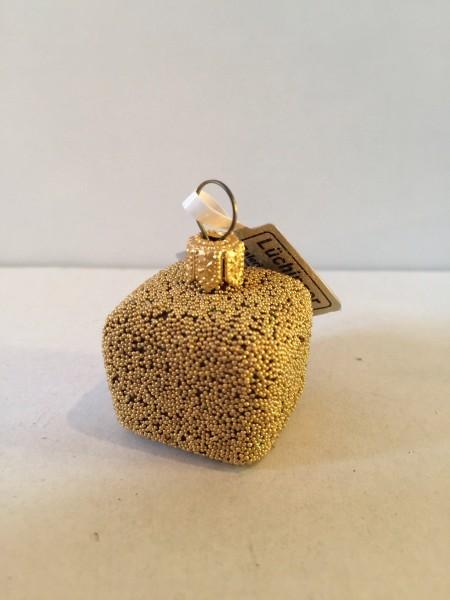 Praline Gold Truffes Würfel