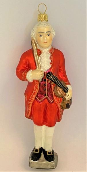 Mozart, stehend mit Geige