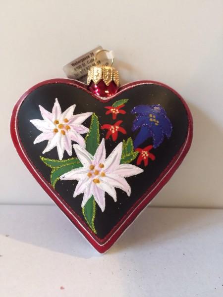 Herz, Edelweiß und Enzian