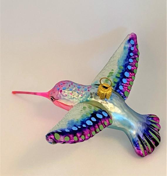 Kolibri Flügel ausgebreitet, Schnabel pink